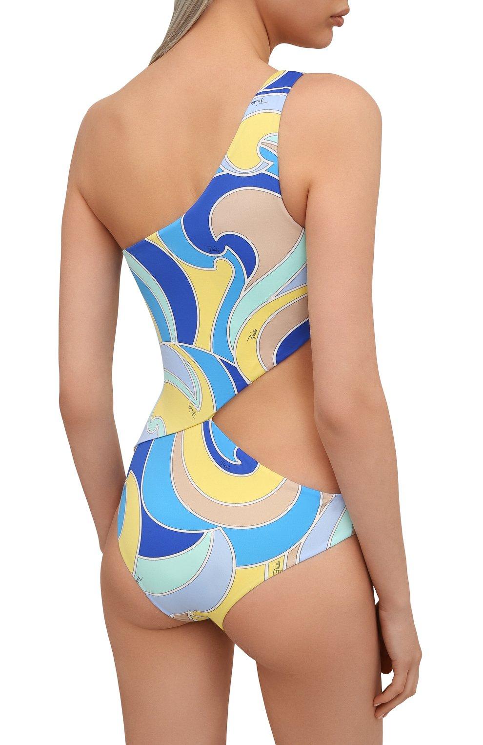 Женский слитный купальник EMILIO PUCCI голубого цвета, арт. 1EMC05/1E787 | Фото 3