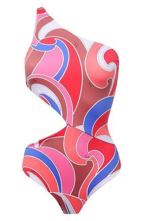 Женский слитный купальник EMILIO PUCCI розового цвета, арт. 1EMC05/1E787 | Фото 1