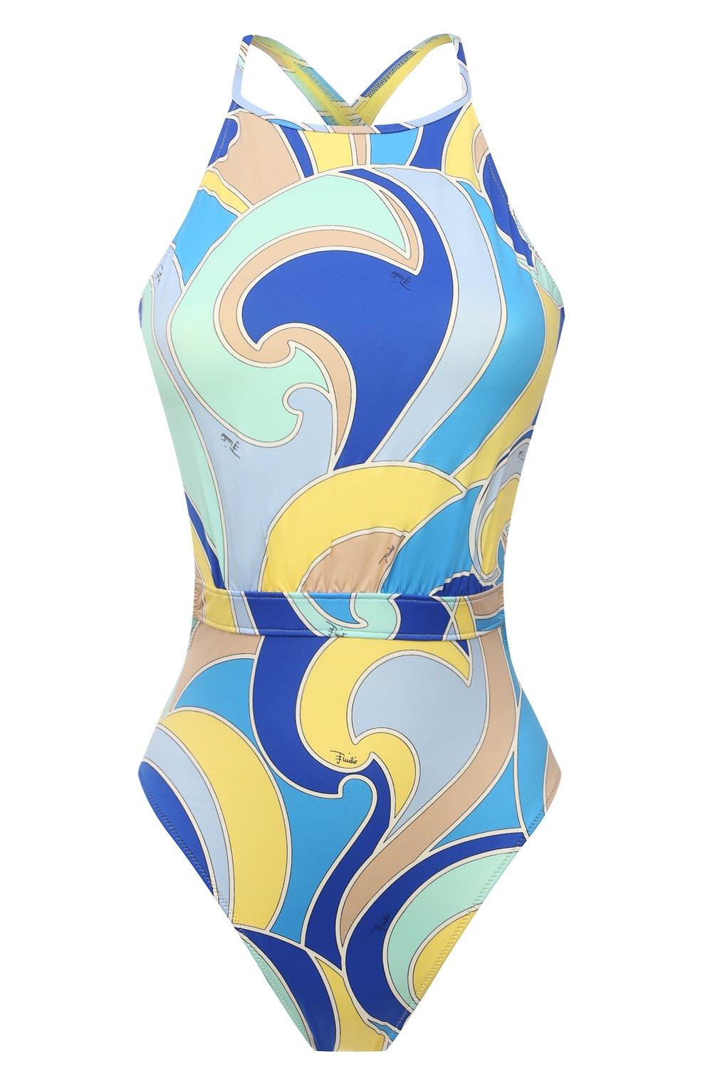 Женский слитный купальник EMILIO PUCCI голубого цвета, арт. 1EMC25/1E787   Фото 1