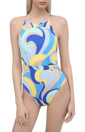Женский слитный купальник EMILIO PUCCI голубого цвета, арт. 1EMC25/1E787 | Фото 2