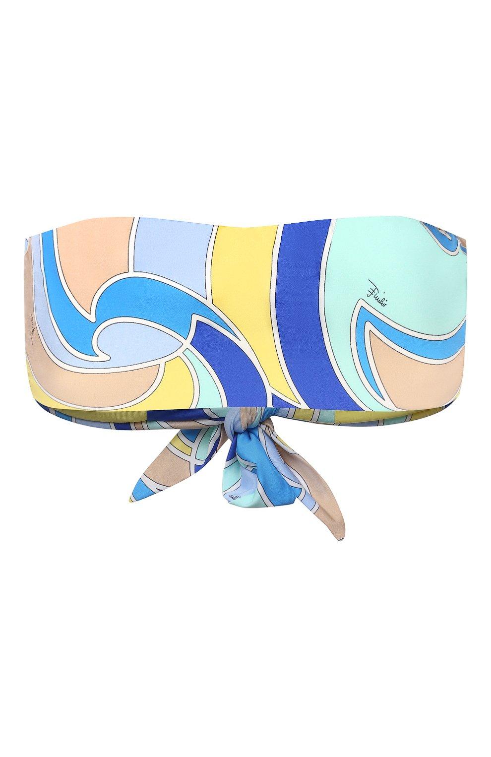 Женский бра-бандо EMILIO PUCCI голубого цвета, арт. 1EMX05/1E787 | Фото 1