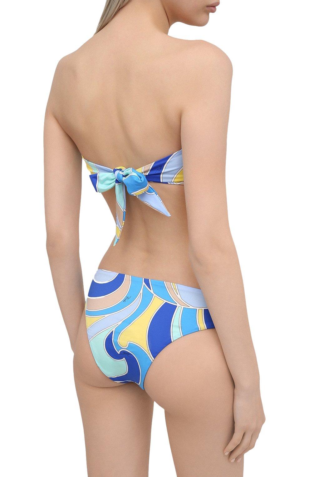 Женский плавки-бикини EMILIO PUCCI голубого цвета, арт. 1EMX31/1E787 | Фото 3