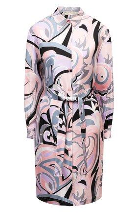 Женское шелковое платье EMILIO PUCCI розового цвета, арт. 1ERG56/1E759 | Фото 1