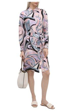 Женское шелковое платье EMILIO PUCCI розового цвета, арт. 1ERG56/1E759 | Фото 2