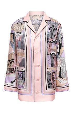 Женская шелковая рубашка EMILIO PUCCI розового цвета, арт. 1ERJ40/1E721 | Фото 1