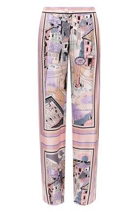 Женские шелковые брюки EMILIO PUCCI розового цвета, арт. 1ERT40/1E721 | Фото 1