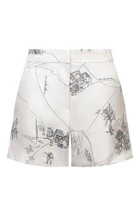 Женские шелковые шорты EMILIO PUCCI белого цвета, арт. 1ERU15/1E741 | Фото 1