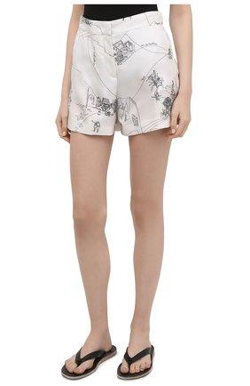 Женские шелковые шорты EMILIO PUCCI черно-белого цвета, арт. 1ERU15/1E741 | Фото 3
