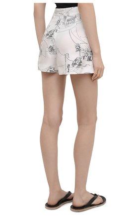 Женские шелковые шорты EMILIO PUCCI черно-белого цвета, арт. 1ERU15/1E741 | Фото 4