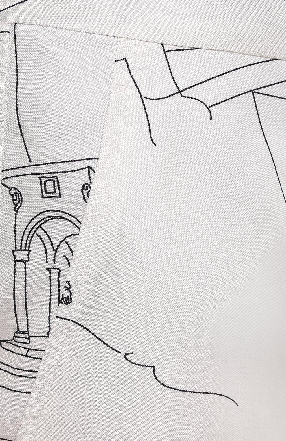 Женские шелковые шорты EMILIO PUCCI черно-белого цвета, арт. 1ERU15/1E741   Фото 5