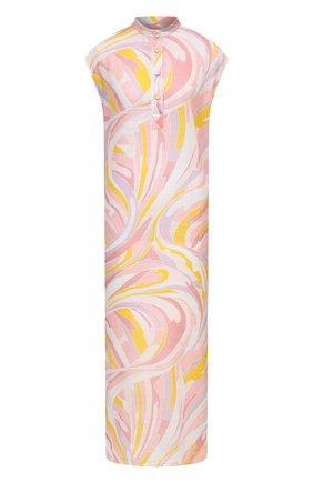 Женская хлопковая туника EMILIO PUCCI розового цвета, арт. 1EWI10/1E796 | Фото 1