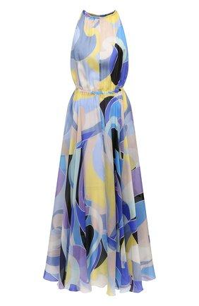 Женское шелковое платье EMILIO PUCCI голубого цвета, арт. 1EWI73/1E782 | Фото 1