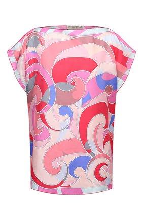 Женская шелковая блузка EMILIO PUCCI фуксия цвета, арт. 1EWM70/1E826 | Фото 1