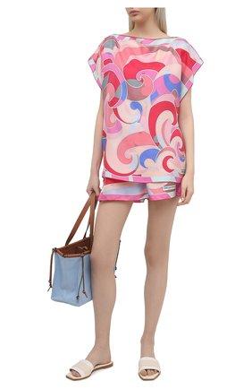 Женская шелковая блузка EMILIO PUCCI фуксия цвета, арт. 1EWM70/1E826 | Фото 2