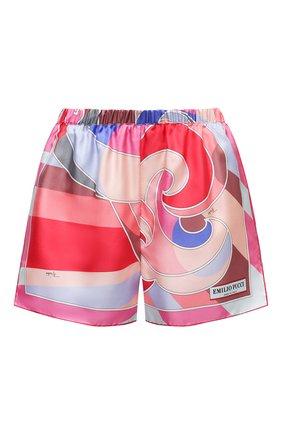 Женские шелковые шорты EMILIO PUCCI розового цвета, арт. 1EWU30/1E824 | Фото 1