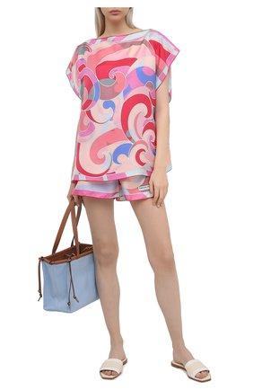 Женские шелковые шорты EMILIO PUCCI розового цвета, арт. 1EWU30/1E824 | Фото 2