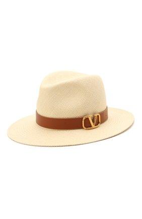 Женская соломенная шляпа vlogo VALENTINO бежевого цвета, арт. VW2HAA31/JAP | Фото 1