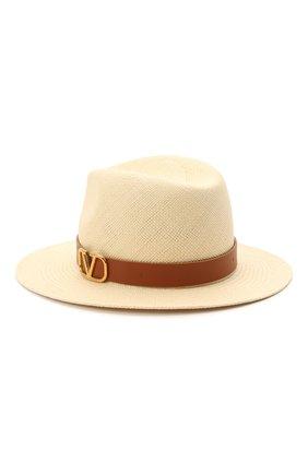 Женская соломенная шляпа vlogo VALENTINO бежевого цвета, арт. VW2HAA31/JAP | Фото 2