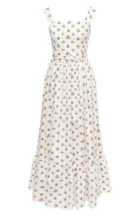 Женское хлопковое платье TAK.ORI белого цвета, арт. DRT82038C0100SS21 | Фото 1