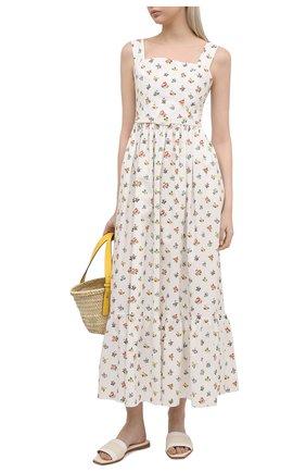Женское хлопковое платье TAK.ORI белого цвета, арт. DRT82038C0100SS21 | Фото 2