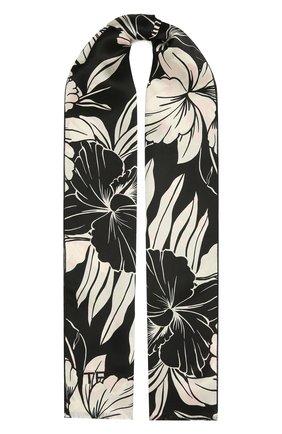 Женский шелковый шарф TOM FORD черно-белого цвета, арт. SF0016-FAP121 | Фото 1