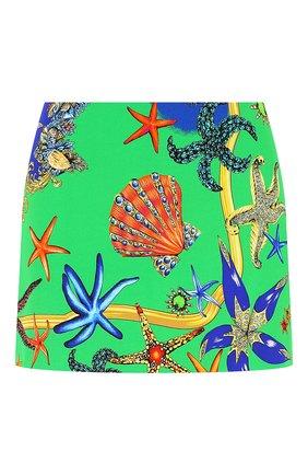 Женская юбка из вискозы VERSACE зеленого цвета, арт. A89059/1F00958 | Фото 1