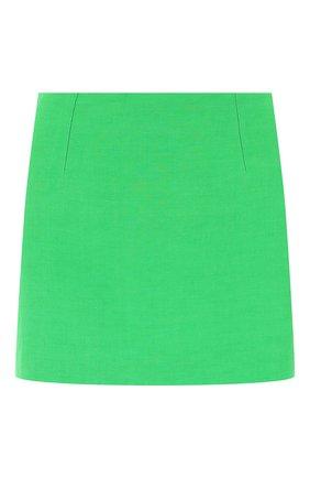 Женская юбка из льна и вискозы VERSACE зеленого цвета, арт. A89059/1F00720 | Фото 1
