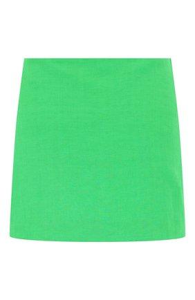 Женская юбка из льна и вискозы VERSACE зеленого цвета, арт. A89059/1F00720 | Фото 2
