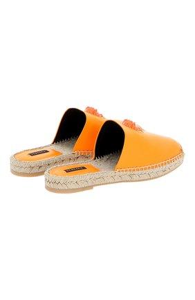 Женские кожаные эспадрильи VERSACE оранжевого цвета, арт. DST639E/DVT2P | Фото 2