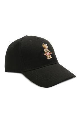 Мужской хлопковая бейсболка DOMREBEL черного цвета, арт. SNAP/CAP | Фото 1