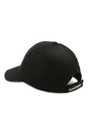Мужской хлопковая бейсболка DOMREBEL черного цвета, арт. SNAP/CAP | Фото 2