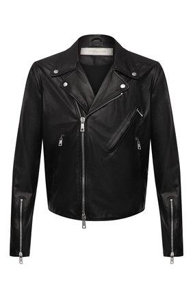 Мужская кожаная куртка GIORGIO BRATO черного цвета, арт. GU21S9205BISD0M | Фото 1