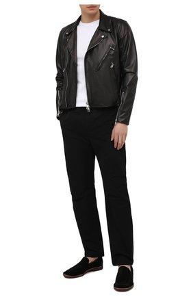 Мужская кожаная куртка GIORGIO BRATO черного цвета, арт. GU21S9205BISD0M   Фото 2 (Длина (верхняя одежда): Короткие; Рукава: Длинные; Мужское Кросс-КТ: Кожа и замша; Кросс-КТ: Куртка; Стили: Кэжуэл; Материал подклада: Хлопок)