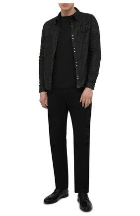 Мужская кожаная рубашка GIORGIO BRATO черного цвета, арт. GU21S9896VBRUSH | Фото 2