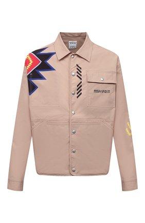 Мужская рубашка MARCELO BURLON бежевого цвета, арт. CMEA157S21FAB002 | Фото 1