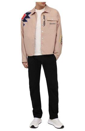 Мужская рубашка MARCELO BURLON бежевого цвета, арт. CMEA157S21FAB002 | Фото 2