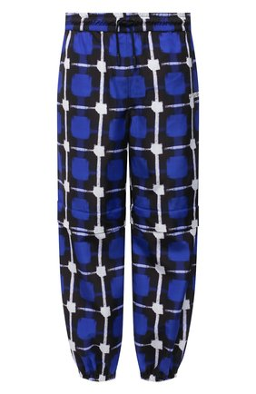 Мужские джоггеры MARCELO BURLON синего цвета, арт. CMCA168S21FAB001 | Фото 1
