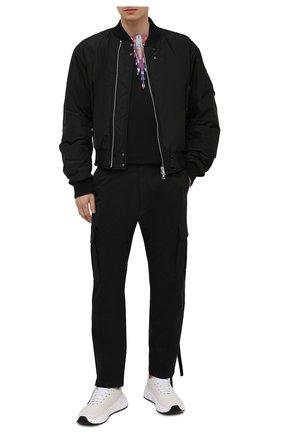 Мужская хлопковая футболка MARCELO BURLON черного цвета, арт. CMAA018S21JER001 | Фото 2 (Материал внешний: Хлопок; Длина (для топов): Стандартные; Рукава: Короткие; Принт: С принтом; Стили: Кэжуэл)