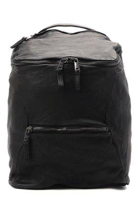 Мужской кожаный рюкзак GIORGIO BRATO черного цвета, арт. BS21S2400V   Фото 1 (Материал: Натуральная кожа; Ремень/цепочка: На ремешке)