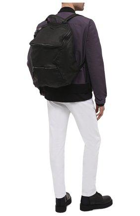 Мужской кожаный рюкзак GIORGIO BRATO черного цвета, арт. BS21S2400V   Фото 2 (Материал: Натуральная кожа; Ремень/цепочка: На ремешке)