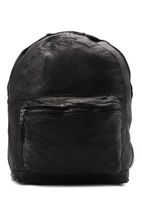 Мужской кожаный рюкзак GIORGIO BRATO черного цвета, арт. BS21S2401V   Фото 1 (Ремень/цепочка: На ремешке; Материал: Натуральная кожа)