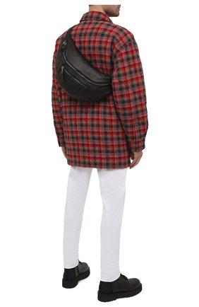 Мужская кожаная поясная сумка GIORGIO BRATO черного цвета, арт. BS21S3106V   Фото 2 (Ремень/цепочка: На ремешке; Материал: Натуральная кожа)