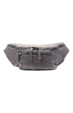 Мужская кожаная поясная сумка GIORGIO BRATO темно-серого цвета, арт. BS21S3106V | Фото 1