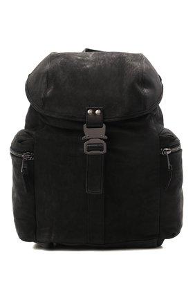Мужской кожаный рюкзак GIORGIO BRATO черного цвета, арт. BS21S3202VBRUSH   Фото 1 (Ремень/цепочка: На ремешке; Материал: Натуральная кожа)