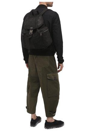 Мужской кожаный рюкзак GIORGIO BRATO черного цвета, арт. BS21S3202VBRUSH   Фото 2 (Ремень/цепочка: На ремешке; Материал: Натуральная кожа)