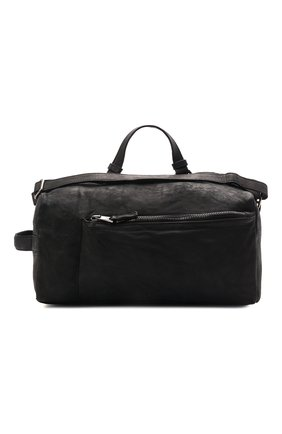 Мужская кожаная дорожная сумка GIORGIO BRATO черного цвета, арт. BS21S3204VBRUSH   Фото 1 (Материал: Натуральная кожа)