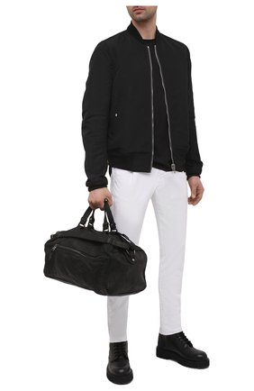 Мужская кожаная дорожная сумка GIORGIO BRATO черного цвета, арт. BS21S3204VBRUSH   Фото 2 (Материал: Натуральная кожа)