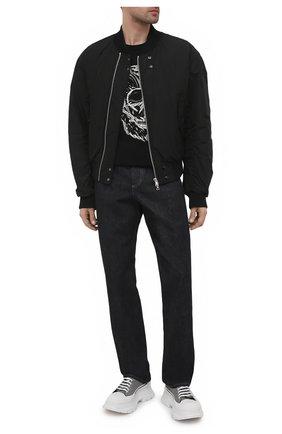 Мужские текстильные кроссовки ALEXANDER MCQUEEN серого цвета, арт. 652757/W4PE1 | Фото 2 (Материал внешний: Текстиль; Материал внутренний: Натуральная кожа; Подошва: Массивная; Стили: Гранж)