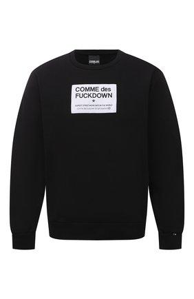 Мужской хлопковый свитшот COMME DES FUCKDOWN черного цвета, арт. CDFU1112   Фото 1