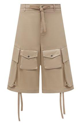Мужские хлопковые шорты 2 moncler 1952 MONCLER GENIUS бежевого цвета, арт. G1-092-2B703-00-5499M | Фото 1 (Материал внешний: Хлопок; Длина Шорты М: Ниже колена; Мужское Кросс-КТ: Шорты-одежда; Принт: Без принта; Стили: Гранж)
